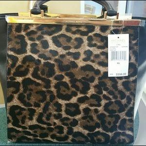 Michael Kors LANA Leopard Purse